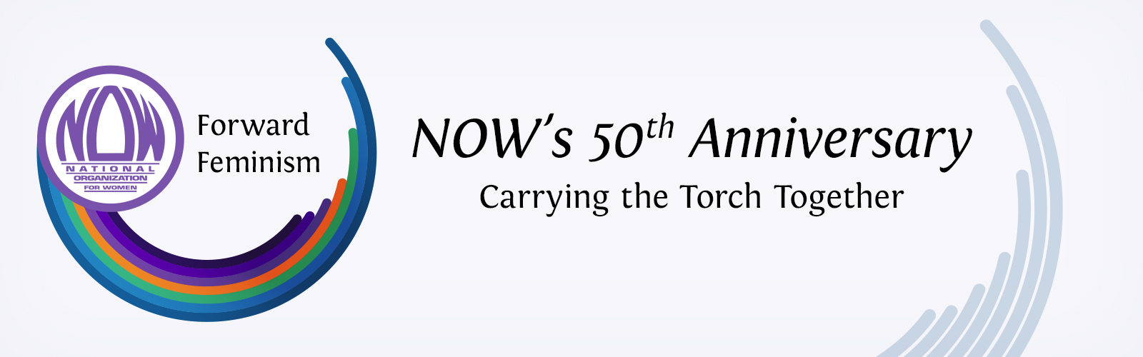 NOW's 50 Anniversary Conference Logo