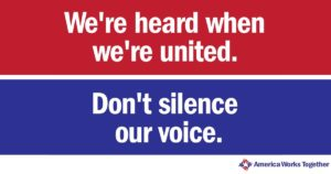 We're heard when we're united. Dont silence our voice